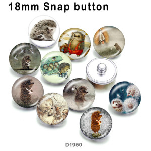 10pcs/lot  Little hedgehog  glass  picture printing products of various sizes  Fridge magnet cabochon