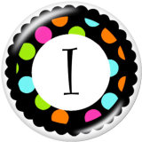 Painted metal 20mm snap buttons  Alphabet  26 words   interchangable snaps jewelry