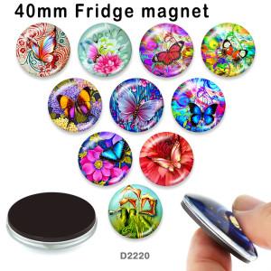 10 шт. / Лот бабочка стеклянная продукция для печати изображений различных размеров магнит на холодильник кабошон