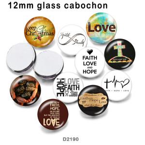 10 unids / lote productos de impresión de imágenes de vidrio Faith Cross de varios tamaños imán de nevera cabujón