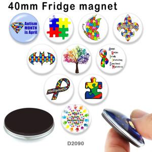 10 шт. / Лот лента бабочка стеклянная продукция для печати изображений различных размеров магнит на холодильник кабошон