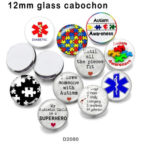 10 шт. / Лот, стеклянная продукция для печати изображений различных размеров, магнит на холодильник, кабошон, XNUMX шт. / Лот