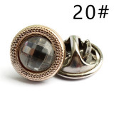 Anti-glare button, concealed button, detachable adjustment, nail-free button, sewing-free button, pearl button, shirt decoration, DIY brooch buckle