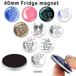 10 шт. / Лот перья слова стекло изображение полиграфическая продукция различных размеров магнит на холодильник кабошон