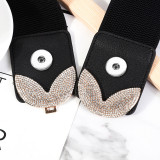 Width 6cm Length 60-80cm Fashion Ladies Dress Elastic Decorative Belt fit two 20MM chunks snaps jewelry