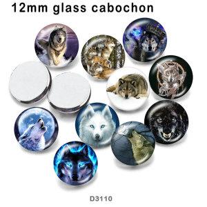 10 шт. / Лот стекло лисы изображение полиграфической продукции различных размеров магнит на холодильник кабошон