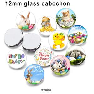 10 шт. / Лот, стеклянная продукция для печати изображений кролика различных размеров, магнит на холодильник, кабошон