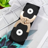6cm wide and 60-80cm long 90g fashion ladies decorative elastic belt fit two 20MM chunks snaps jewelry