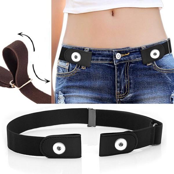 Pantalon à la taille élastique invisible à la mode, largeur de la ceinture 3 cm, longueur 45-76 cm pour deux morceaux de 20 MM s'enclenche des bijoux