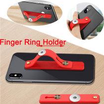 クリエイティブ携帯電話ホルダーシリコーンプッシュプル怠惰なリングホルダースティック携帯電話ホルダーフィット 20 ミリメートルチャンクスナップジュエリー