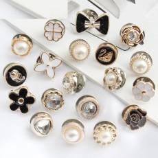 アンチグレアボタン、隠しボタン、取り外し可能、釘抜きボタン、無縫製ボタン、パールボタン、シャツ飾り、DIYブローチバックル