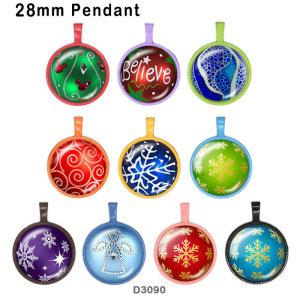 10 шт. / Лот, рождественское стекло, полиграфическая продукция различных размеров, магнит на холодильник, кабошон