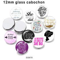 10 pcs/lot Plume flèche verre image produits d'impression de différentes tailles Réfrigérateur aimant cabochon