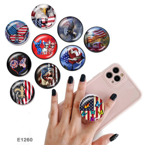 National flag The mobile phone holder Painted phone sockets with a black or white print pattern base