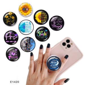 FaithThe 携帯電話ホルダー 黒または白のプリント パターン ベースの塗装済み電話ソケット