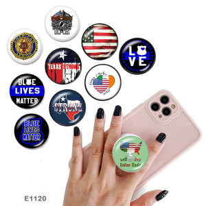 National flag police The mobile phone holder Painted phone sockets with a black or white print pattern base