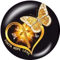 Schmetterling, Libelle, Blume Der Handyhalter Lackierte Telefonsteckdosen mit schwarzem oder weißem Druckmustergrund