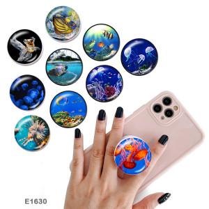 Vida marina El soporte para teléfono móvil Tomas de teléfono pintadas con una base estampada en blanco o negro