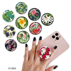 Plant flowers The mobile phone holder Painted phone sockets Beach Ocean