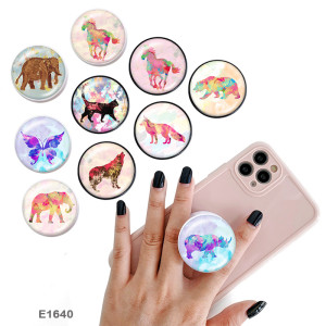 Animal The mobile phone holder Painted phone sockets with a black or white print pattern base