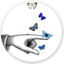 Butterfly Der Handyhalter Lackierte Telefonsteckdosen mit schwarzem oder weißem Druckmusterboden