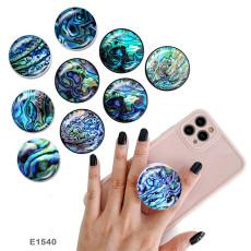 シェル パターン 携帯電話ホルダー 黒または白のプリント パターン ベースの塗装済み電話ソケット