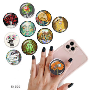 Art The mobile phone holder Painted phone sockets with a black or white print pattern base