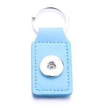 Pu leater ファッション キーホルダー ボタン スナップ チャンク スナップ ジュエリーに適合