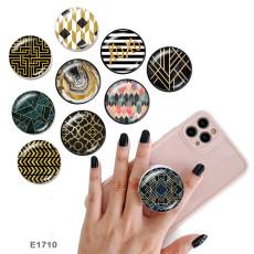 Motif Le support de téléphone portable Prises de téléphone peintes avec une base de motif d'impression noir ou blanc