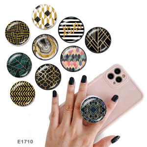 Pattern The mobile phone holder Painted phone sockets with a black or white print pattern base