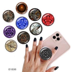 Símbolo de tótem El soporte para teléfono móvil Tomas de teléfono pintadas con una base estampada en blanco o negro