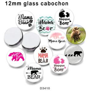 10 unids / lote productos de impresión de imágenes de vidrio MOM de varios tamaños imán de nevera cabujón