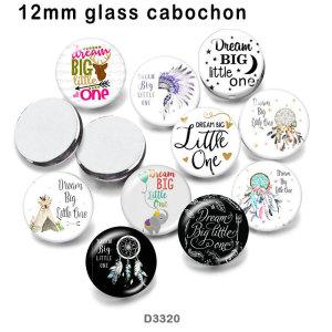 10 unids / lote Dreamcatcher productos de impresión de imágenes de vidrio de varios tamaños imán de nevera cabujón
