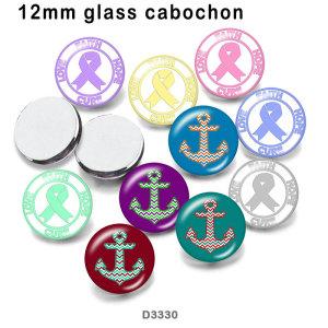 10 unids / lote productos de impresión de imágenes de vidrio de ancla de barco de varios tamaños imán de nevera cabujón
