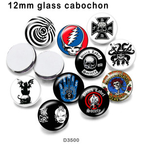 10 unids / lote productos de impresión de imágenes de cristal de calavera de varios tamaños imán de nevera cabujón