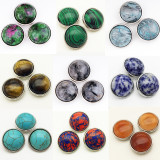 18MM snap Natural stone turquoise snap buttons