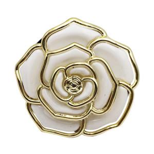 Rose Camellia Oil Drops mit Strasssteinen Malerei Ölbeutelhaken kann von außen hängende dekorative Tasche hängen