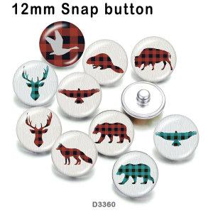 10 unids / lote ciervos el oso productos de impresión de imágenes de vidrio de varios tamaños imán de nevera cabujón