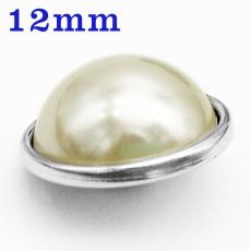 Кнопки 12 мм с имитацией жемчуга