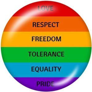 Rainbow LGBT love El soporte para teléfono móvil Tomas de teléfono pintadas con una base estampada en blanco o negro