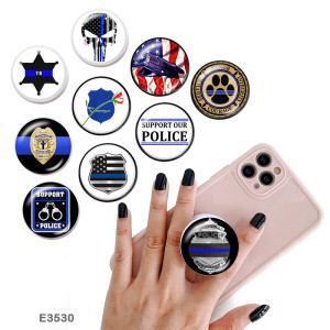 Флаг полиции веры Держатель для мобильного телефона Окрашенные телефонные розетки с черным или белым принтом на основании