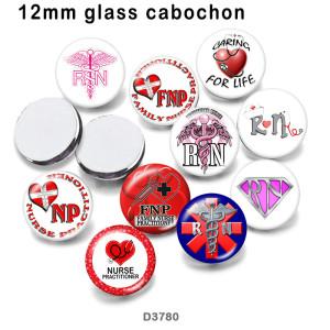 10pcs/lot   Nurse   glass  picture printing products of various sizes  Fridge magnet cabochon