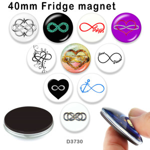 10pcs/lot  love   glass  picture printing products of various sizes  Fridge magnet cabochon