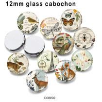 10 pcs/lot papillon libellule verre produits d'impression d'image de différentes tailles réfrigérateur aimant cabochon