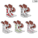 Butterfly boots money faith12MM snap silver plated  interchangable snaps jewelry