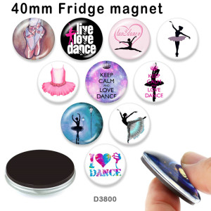 10pcs/lot   Dance   glass  picture printing products of various sizes  Fridge magnet cabochon