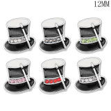 Christmas boots hat food12MM snap silver plated  interchangable snaps jewelry