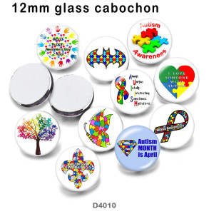 10pcs/lot  Ribbon  color  glass  picture printing products of various sizes  Fridge magnet cabochon