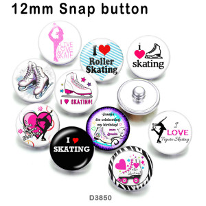 10pcs/lot  Dance  Skates   glass  picture printing products of various sizes  Fridge magnet cabochon