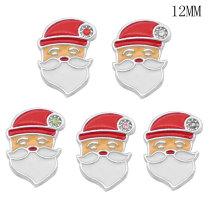 Bottes de Noël chapeau food12MM snap plaqué argent snaps interchangeables bijoux